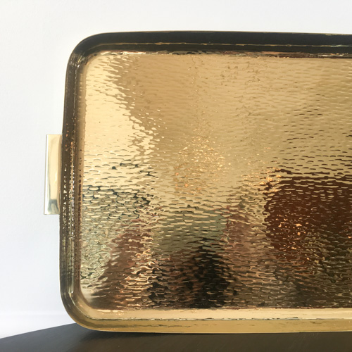 Hammered Brass Tray Large Gild And Co